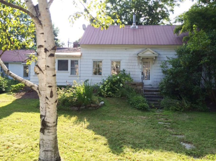 A lovely Vermont cape with character and charm. The home is set back from the road with a large front lawn.