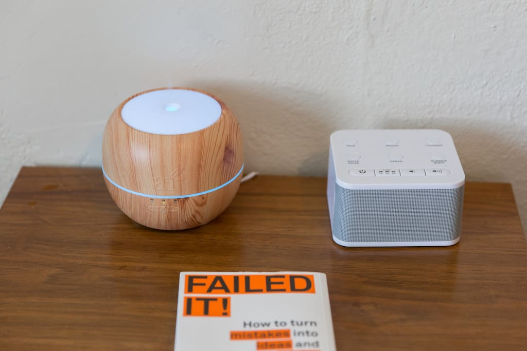 Essential oil diffuser and Box that makes sounds while you sleep :)