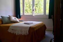 La chambre: 12 m2. Canapé-lit (140x200). Linge de lit et serviette de toilette fournis.