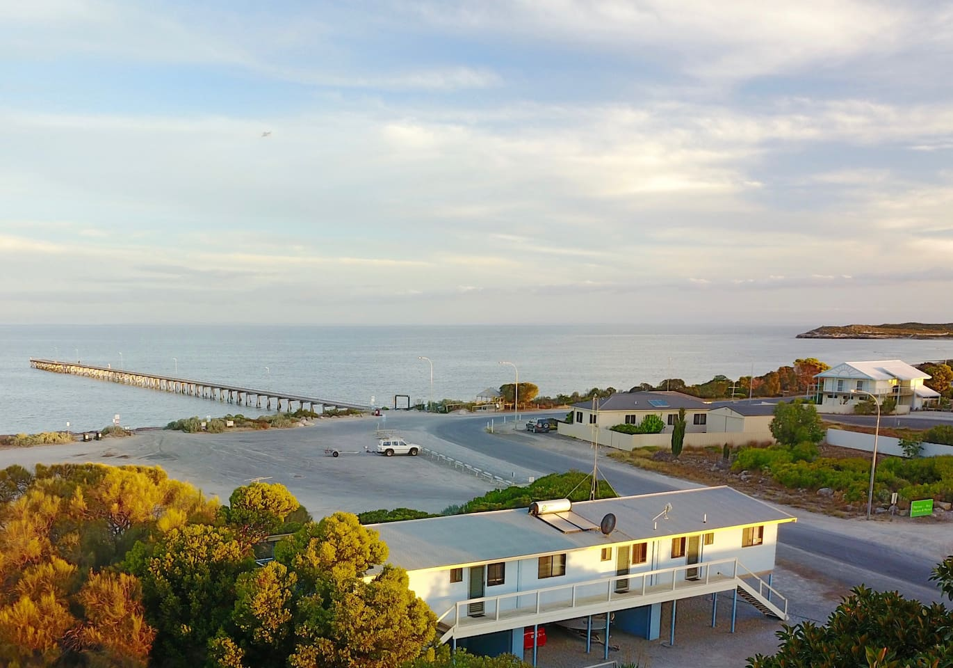 Our location looking towards the Marion Bay Jetty and Penguin Point. We have plenty of room onsite for undercover parking and boat storage.