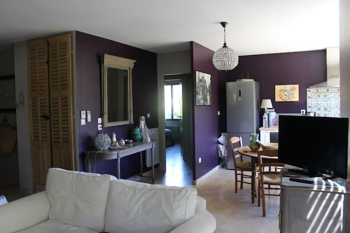Maison atelier de peintre dans un vieux verger - Nans-les-Pins - House