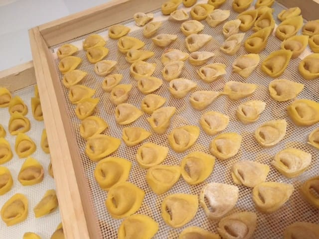 Tortellino experience in villa on the appennin