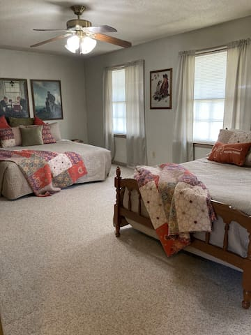 Front bedroom upstairs king size and full-size bed
