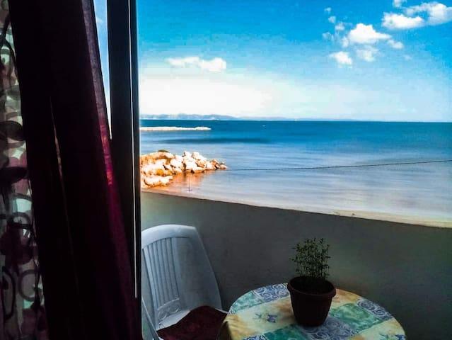 La Goulette: 1P Appartement avec vue sur mer