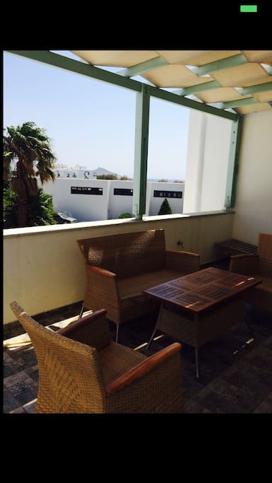 27 sqm terrace with view