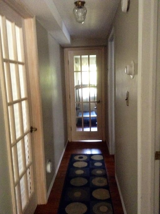 Lower apartment hallway