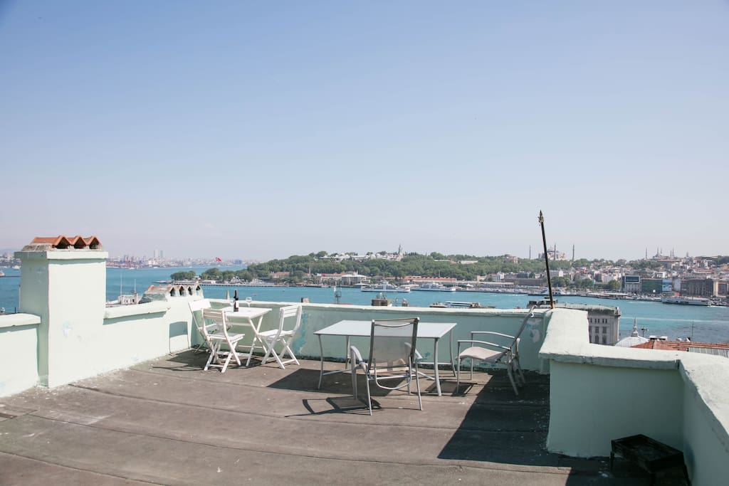 Terrace with a panoramic view of the city and Sea