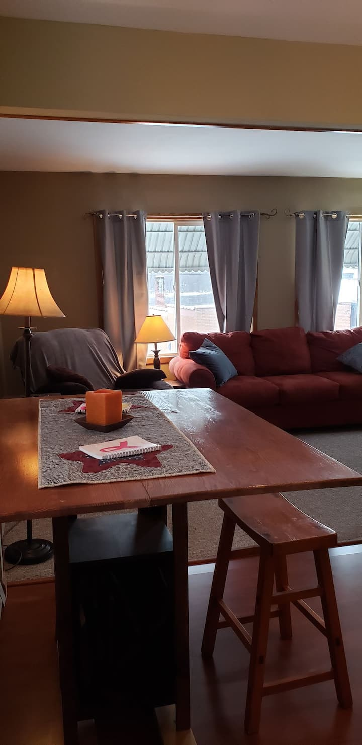 Nice apartment with a view 10 minutes from Winona.