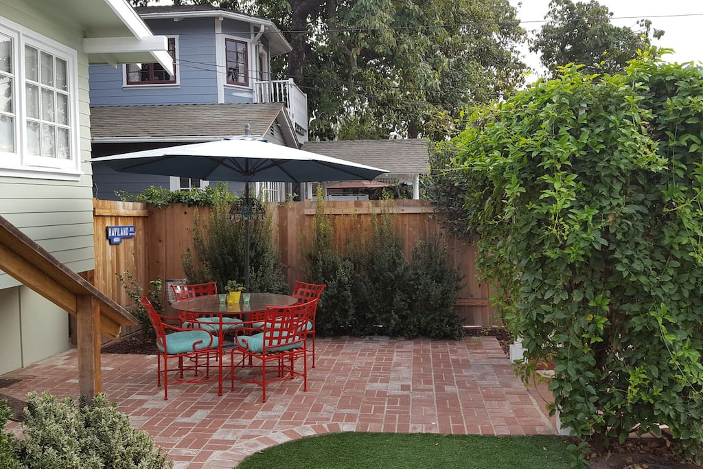 The back yard patio which you are welcome to use.