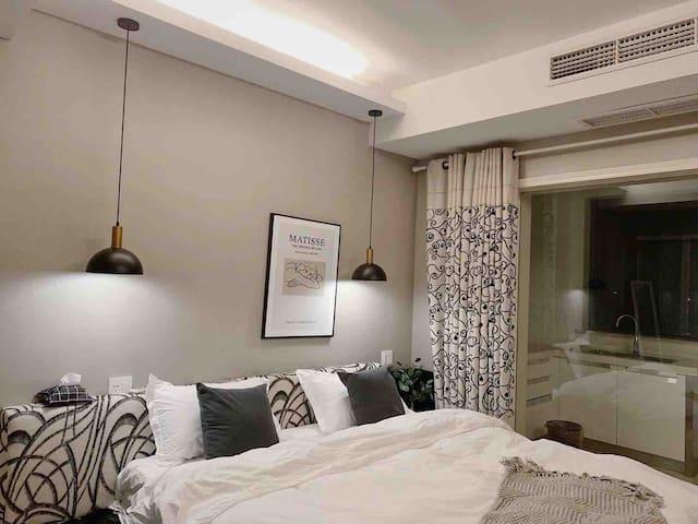 【归宿】水天一色单身公寓公寓,60平,金属工业风。spacex附近