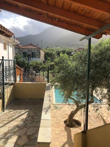 Terrace & swimming pool view