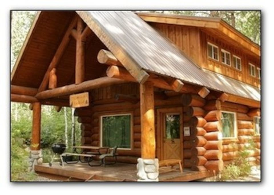 Howling wolf cabin cabins for rent in winthrop for Winthrop cabin rentals