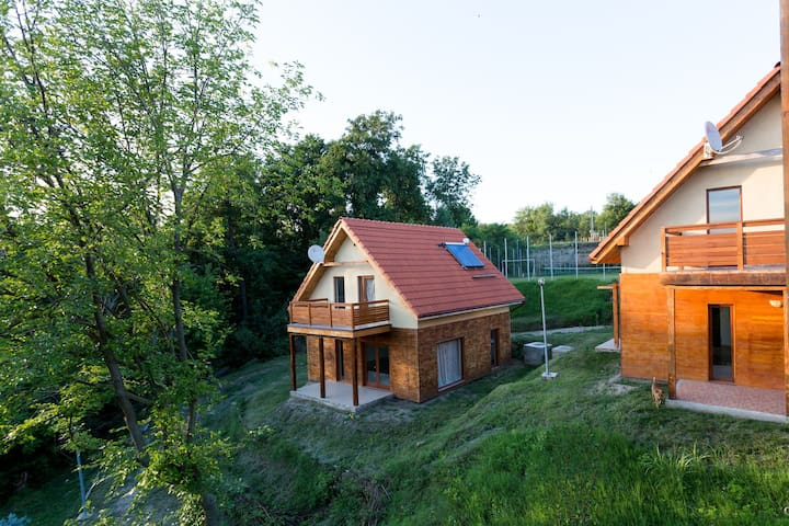 Danube Vila 2 with outdoor pool and sports field