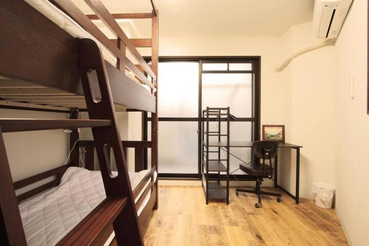 西宮駅まで5分! Free wi-fi,  1 bunk bed (10 m²)