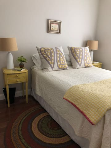 Upstairs bedroom--The Yellow Room