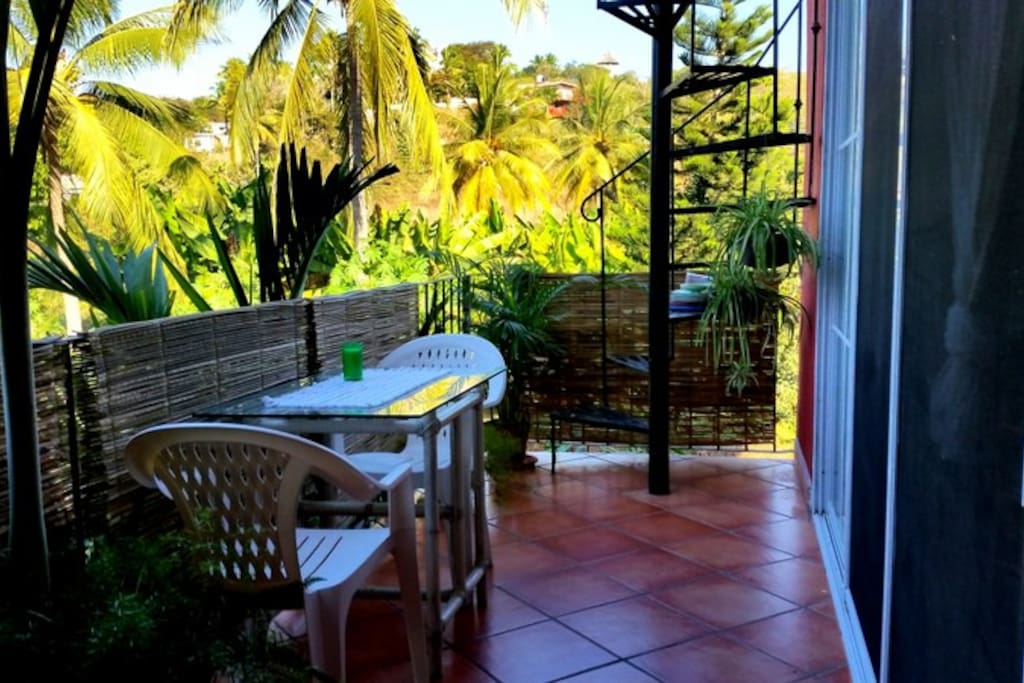 Balcony outside bedroom