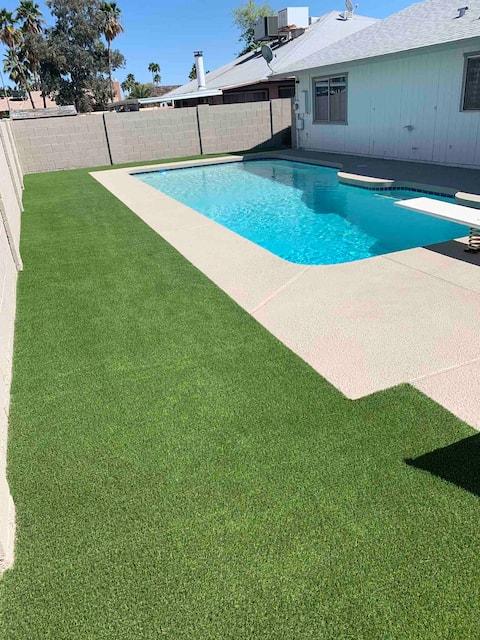 4 BR/2 Ba remodeled home W/ HEATED pool &  BBQ