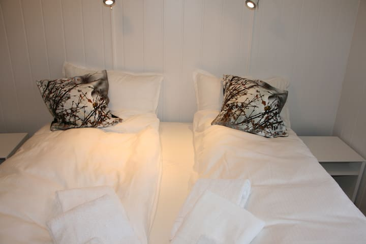 Double bed. All rooms include fully made up beds with duvets, pillows and towels.