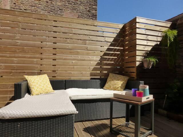 Flat as a loft with terrace