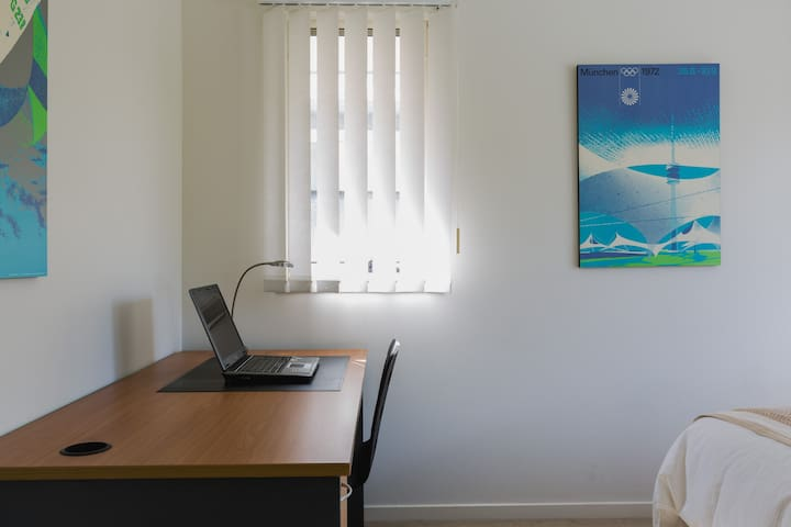 Writing desk & chair, wifi facility and high speed internet in guest bedroom