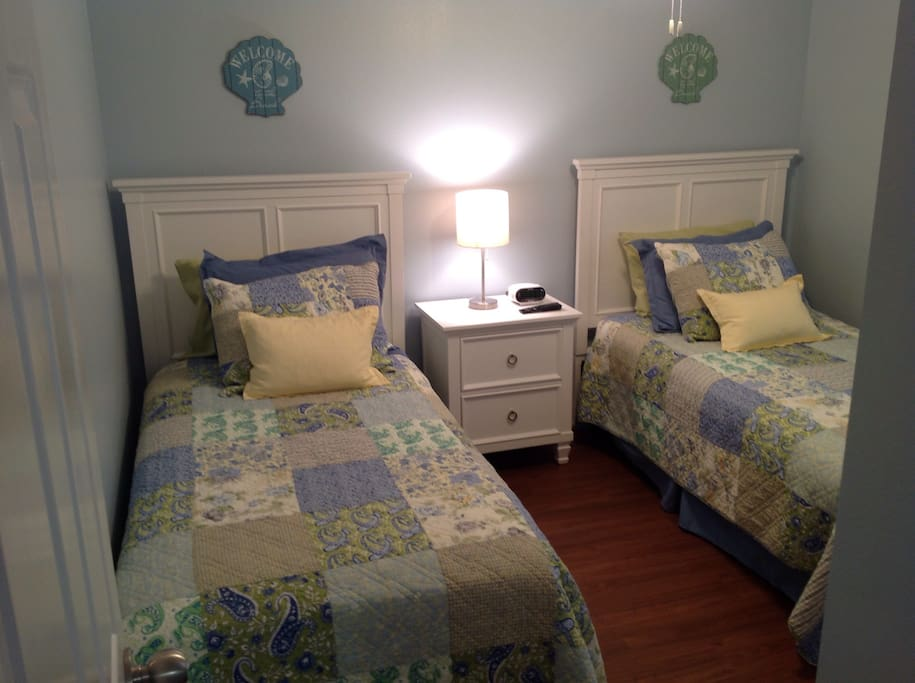 Two pillow top Twin beds in second bedroom.