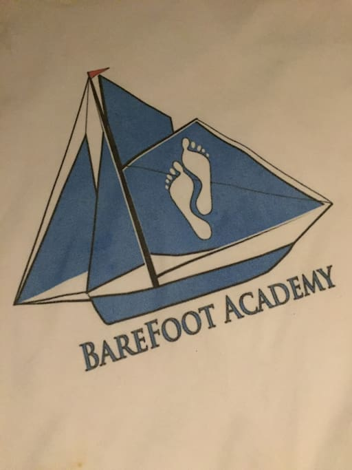 The logo for our company.  The Barefoot Academy.