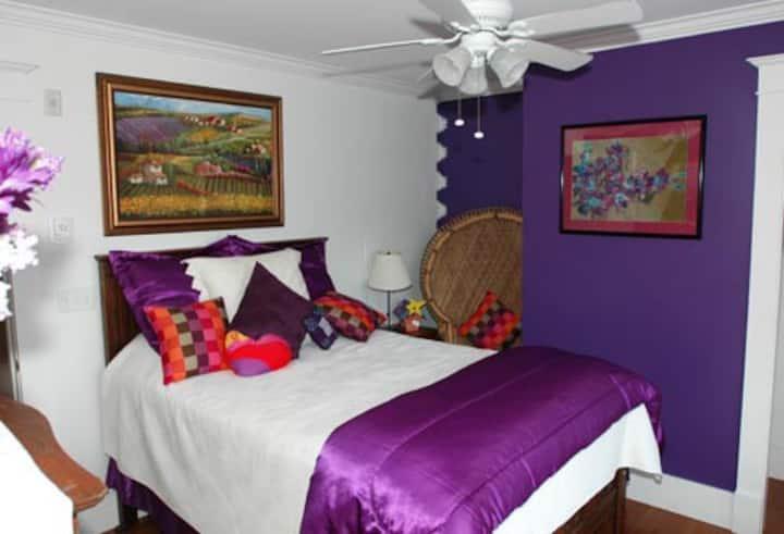 Amethyst Bedroom, Bold Colorful Life Estate