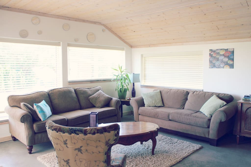 Bright, open living space