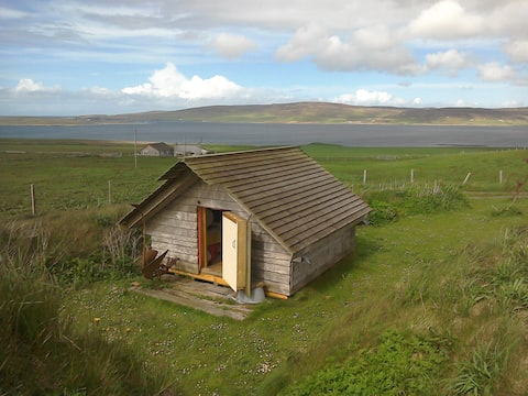 Orkney Camping hut sleeps two.