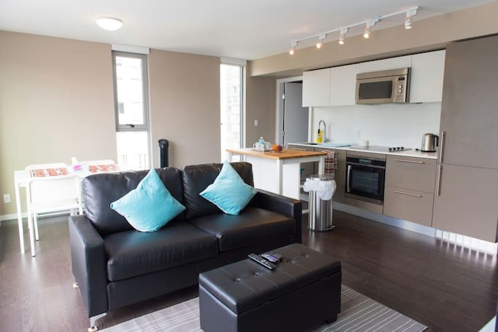 New Modern Downtown 2 BR + Parking! - Vancouver - Daire