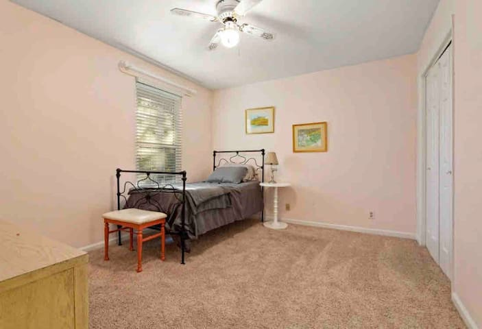 Twin size guest bedroom. Addition twin bed available upon request