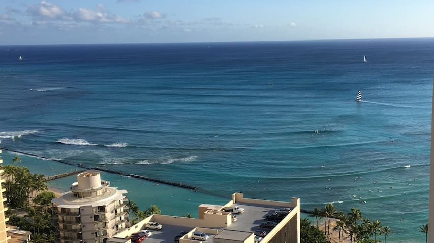 Ocean View in the heart of Waikiki