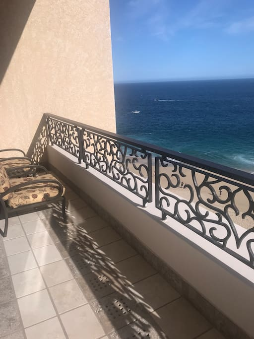 Balcony overlooking the Pacific