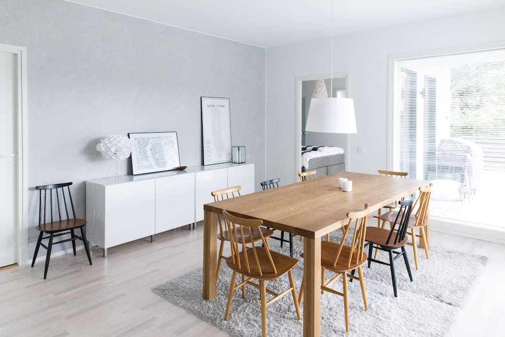 Dining room with table for 10 diners
