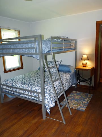 2nd bedroom with full size bunks.  (not twin!)