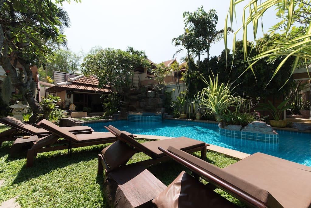 Jardins, piscines