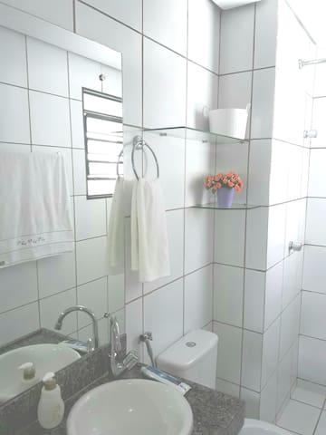 Banheiro exclusivo do hóspede