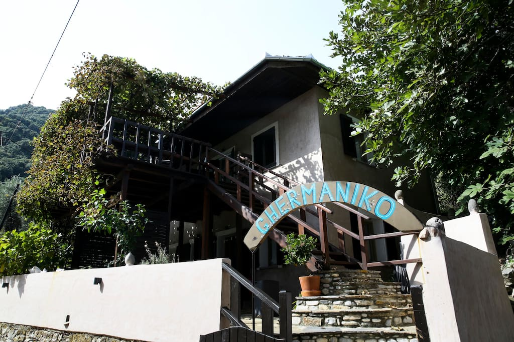 The right side of the guesthouse