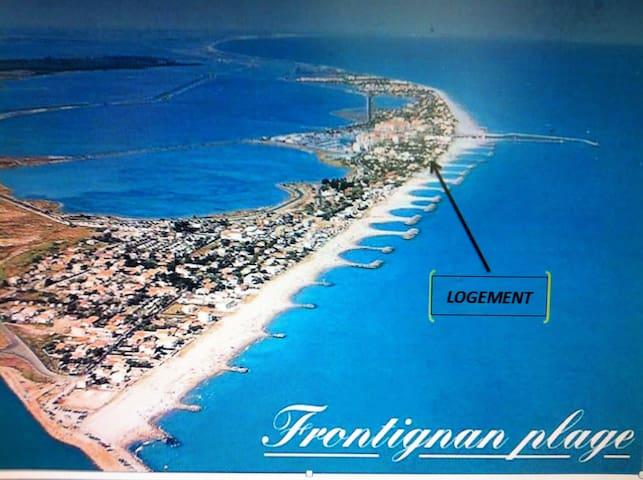 2 pièces, terrasse vue mer Frontignan Plage  ❤️ - Frontignan Plage - Wohnung