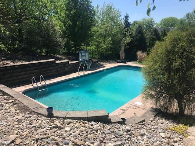 Private, heated inground pool