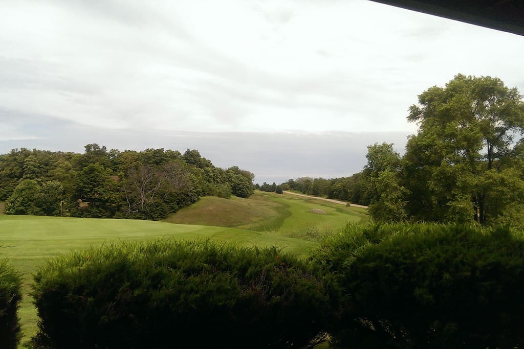View from Deck to Golf Course.