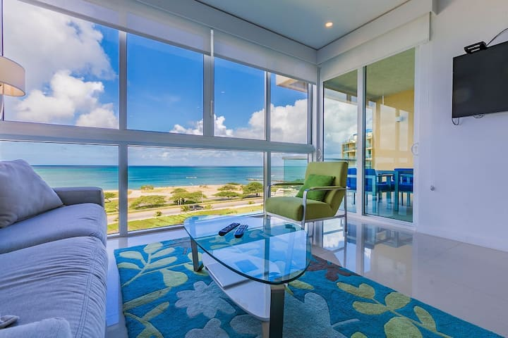 Magnif Sea-views/by Eagle Beach/2bdr-Dlxe condo