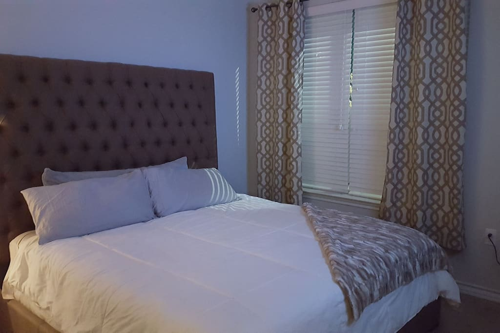 Bedroom with King mattress