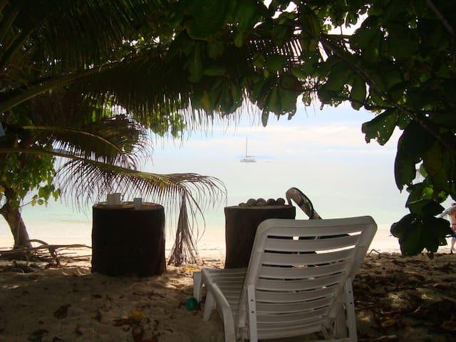 Beachfront hideaway in perfect tranquility - Anse Kerlan - Bungalou