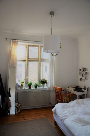Bright room in  hip Nørrebro - Kopenhagen - Appartement