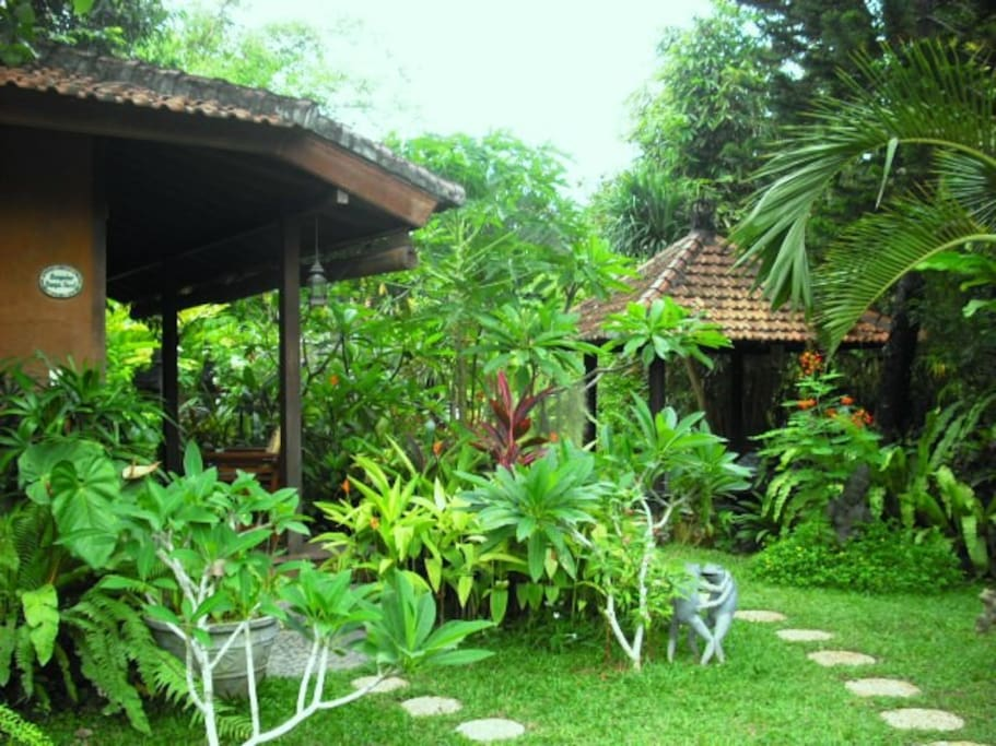 Closer view to the entry to Bungalow Bunga Kecil