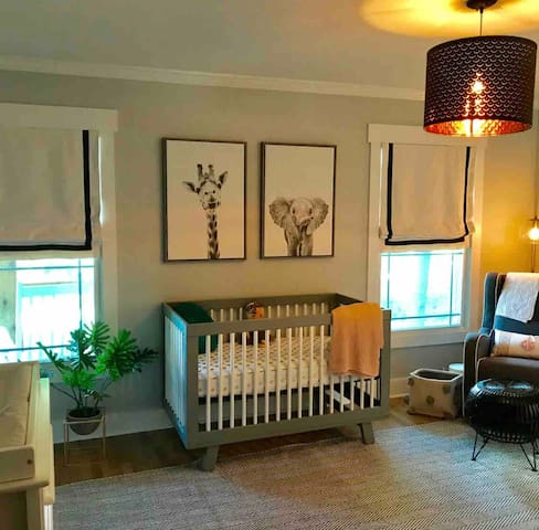 Nursery with crib and and air mattress if requested