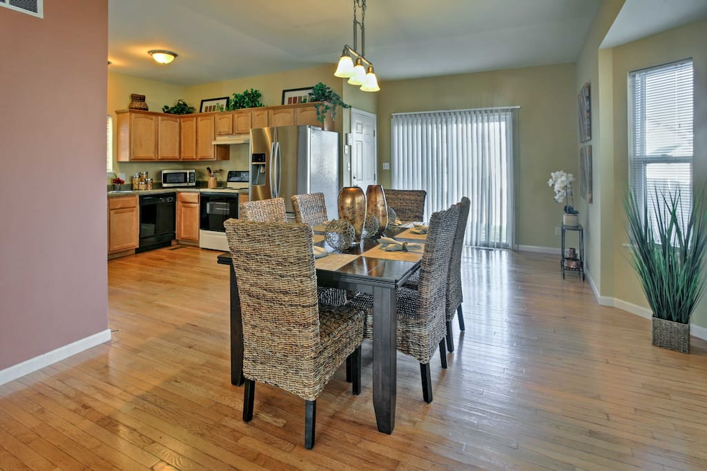 As soon as you arrive, you'll be amazed by the hardwood floors, sophisticated decor, and open-concept layout.