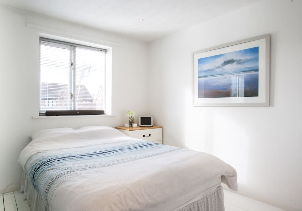 Your very own lovely bright and fresh bedroom to relax at the end of your day and start an exciting one. Views across 3 miles of forest!!!
