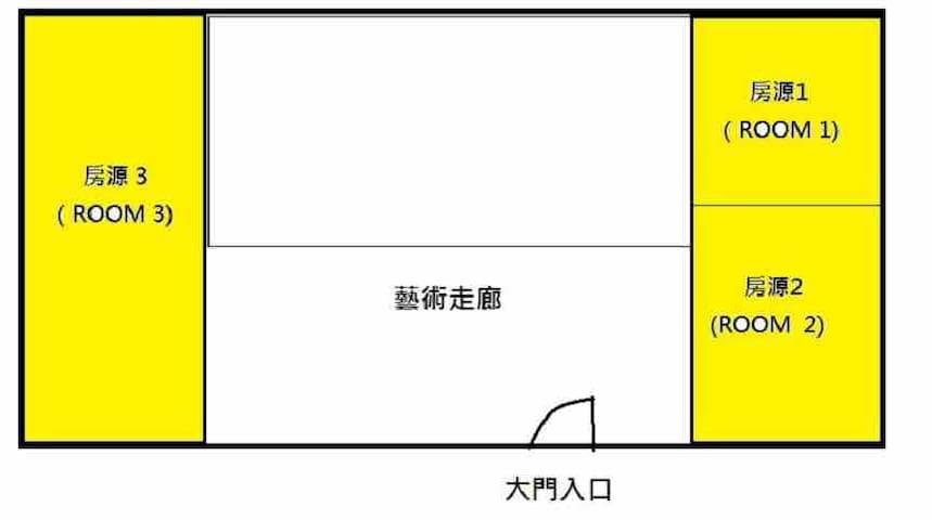 房源平面層配置圖 此房源是整層獨立使用